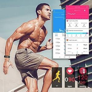 Activity tracker daily record of sports data