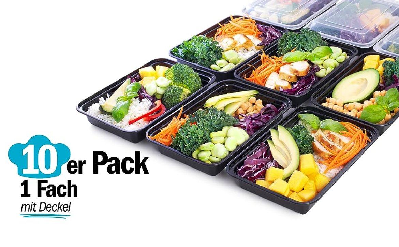1-Fach Salatbrotdosen Lebensmittelbehälter Essenszubereitungswannen