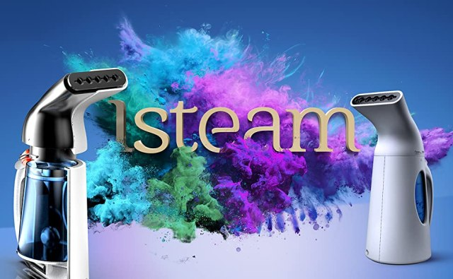 Isteam main image Background with shirt and steamers
