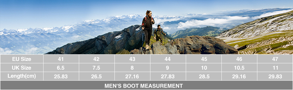 men's boot measurement