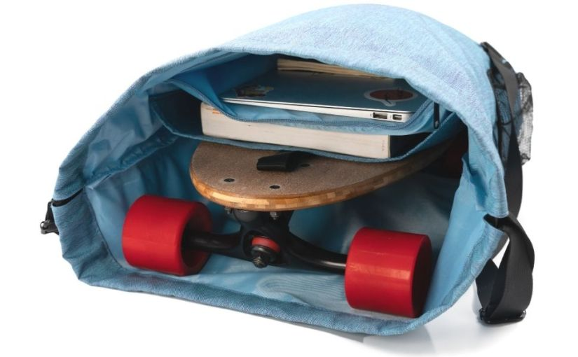 laptop backpack with notebook and skateboard inside from eggboards skateboard backpacks