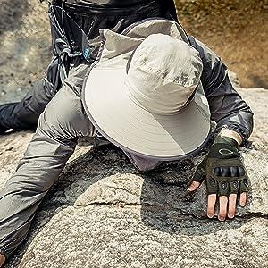 Waterproof Sun Protection Outdoor Boonie Hat for Men&Women