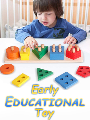 Early Education Educational Puzzle Board Preschool Fun Learning Physical Development Wooden Nursery