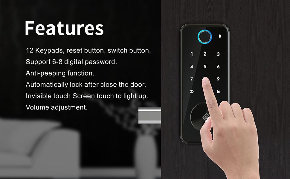 tuş takımı dijital kilit akıllı otomatik kilit