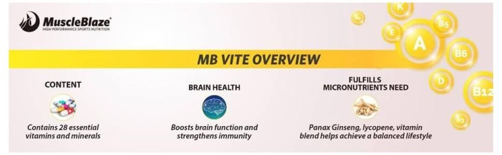 MuscleBlaze MB-Vite Multivitamin with Immunity Boosters