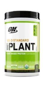gold standard plant protein powder, vegan protein powder, optimum nutrition plant protein powder