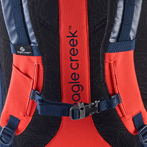 padded straps, buckle straps, comfortable straps, comfortable backpack