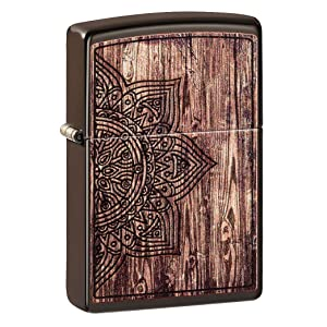 color image, wooden, wooden lighters, toffee, copper, copper lighter, mandala, wooden mandala,