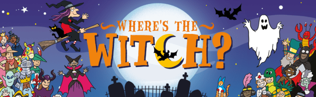 witch spooky halloween book funny for kids where's wally search find search-and-find hidden object