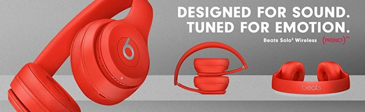Solo3, Solo3 Wireless, Product Red, Bluetooth, Headphones