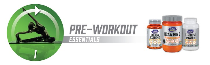 NOW Sports Nutrition, ZMA, Pre-Workout Essentials