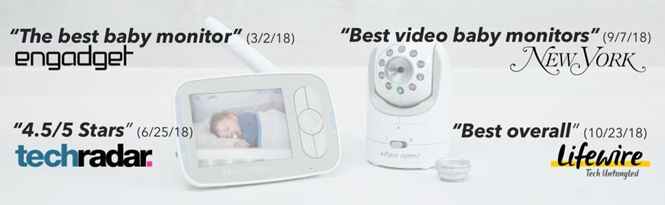 monitor do bebê, monitor de vídeo, DXR-8, Infant Optics