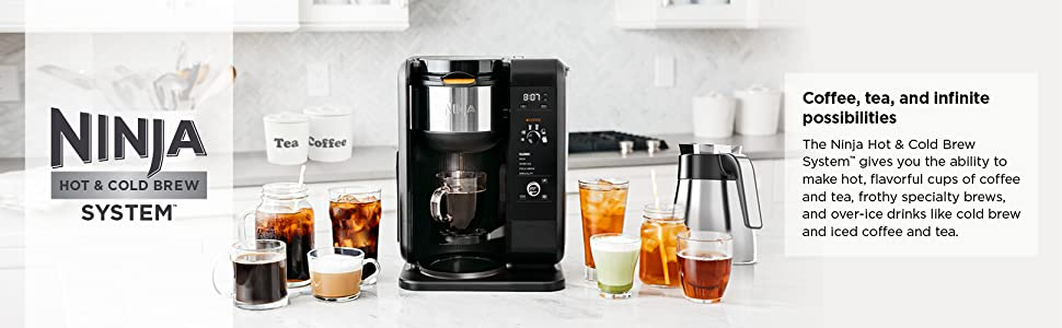 Ninja Hot and Cold Brew system to make Cold brew, teas, and more