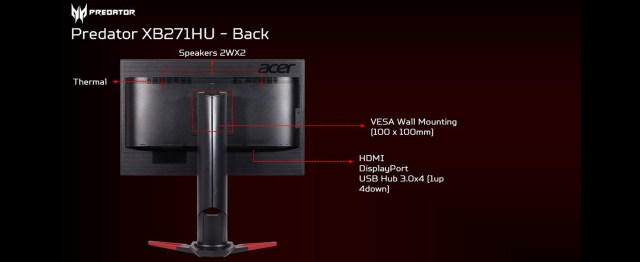 Acer Predator XB271HU NVIDIA G-SYNC 165Hz WQHD IPS Amazon Choice Gaming Monitor