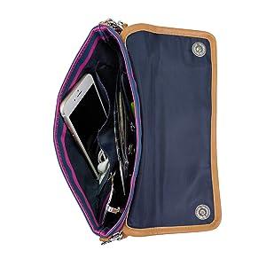 nautica womens wallet clutch organizer rfid blocking rdif billfold ladies zippered pocket wristlet