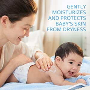 baby on gently moisturized and protects baby's skin from dryness