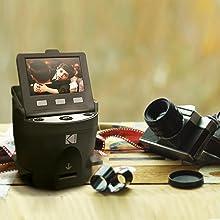 Kodak Digital Film Scanner, Converts 35mm, 126, 110, Super 8 and 8mm Film  Negatives and Slides to JPEG Includes Large Tilt Up 3 5 LCD and EasyLoad