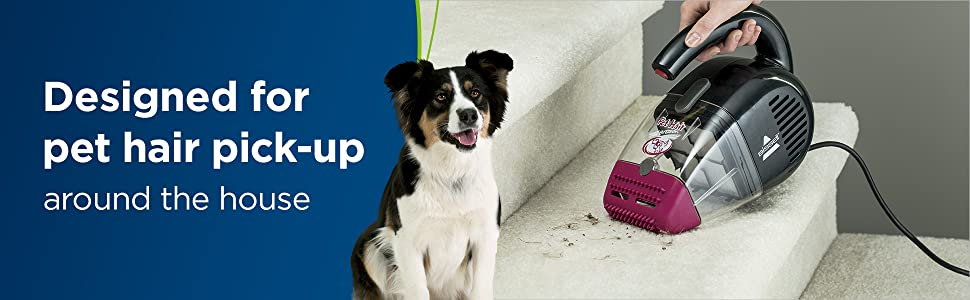 Hand vacuum, pet vacuum, pet hair, lightweight, corded, handheld