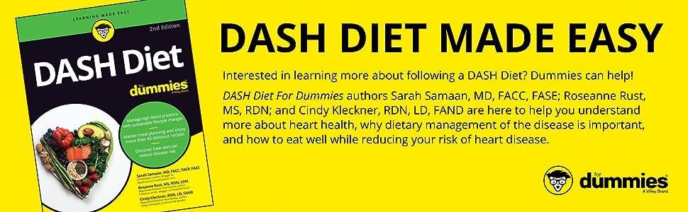dash diet, dash diet for dummies, dash diet dummies, dash diet cookbook; dash diet book