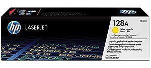 HP 128A Yellow Original LaserJet Toner Cartridge CE322A, HP 128, HP128