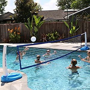 volleyball, pool, pool toys, pool accessories, pool games, outdoor, game, sport, net, summer, water