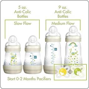 mam anti-colic baby bottles orthodontic newborn pacifiers baby gifts for newborns baby gift set bott