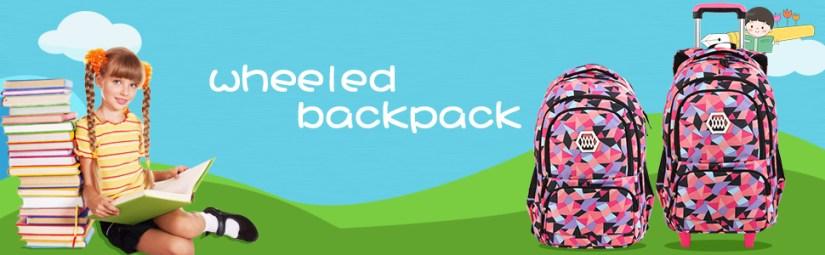 girls wheeled backpack