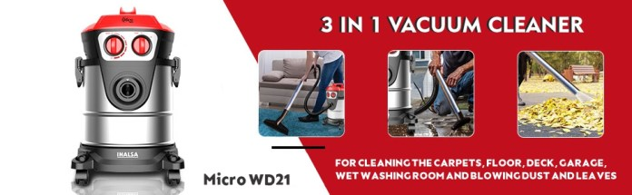 inalsa, micro WD21, wet & dry vacuum cleaner,