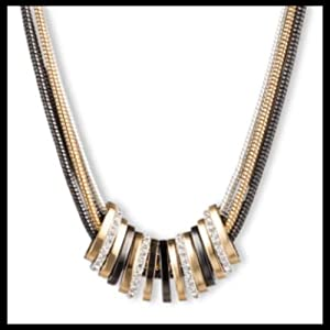 Nine West clean, sleek, modern silver and gold necklaces, earrings and bracelets perfect for gifts.
