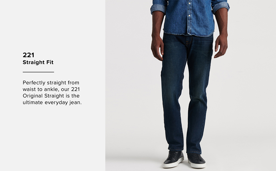 221 Straight Fit Jean, lucky brand jeans men, lucky jeans men, mens lucky brand jeans,