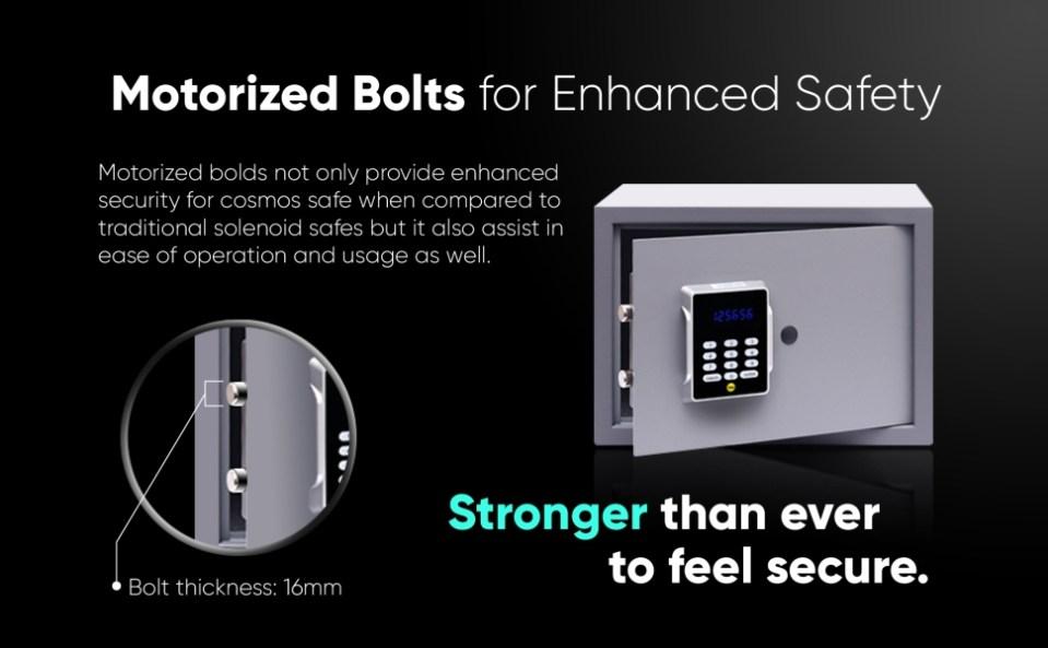 motorised bolts cosmos digita safe