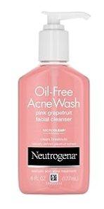 Neutrogena Oil Free Salicylic Acid Pink Grapefruit Pore Cleansing Acne Face Wash