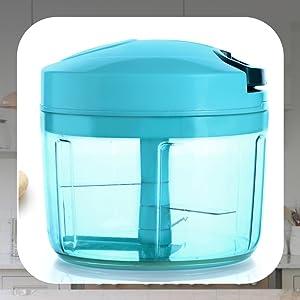 Plastic Quick Chopper, 725ml, Pool Green