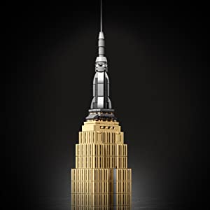 Amazon Com Lego Architecture Empire State Building 21046 New York City Skyline Architecture Model Kit For Adults And Kids Build It Yourself Model Skyscraper 1767 Pieces Toys Games