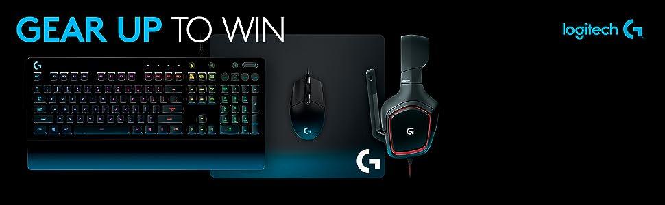 aa8271a9d2d Logitech G Gear UP Gaming Bundle Gaming Grade Mouse, Keyboard ...