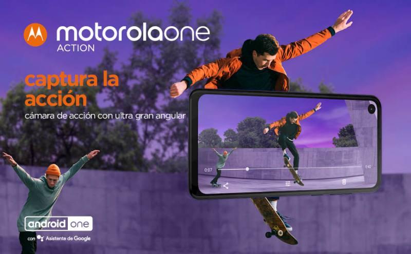 motorola one action; action cam; video cam;Android;FHD+;128 GB;sistema de triple cámara;Smartphone