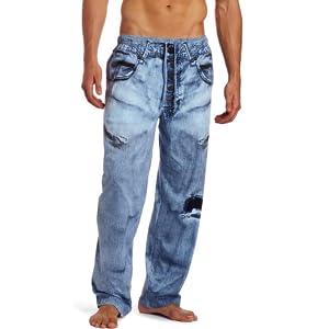 paul frank under disguise faux denim pajama pants