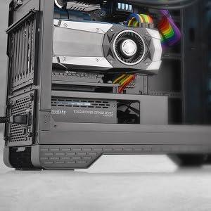 Built-in PSU Cover and Riser GPU Bracket