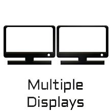 pantalla múltiple, salida