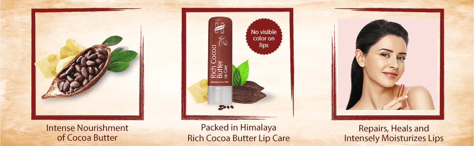 Intense Nourishment; Rich Cocoa Butter Lip Care; Repairs, Heals and Intensely Moisturizes lips