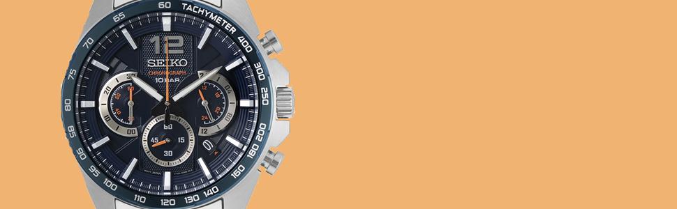 Chronograph, Seiko, Armbanduhr, Herrenuhr