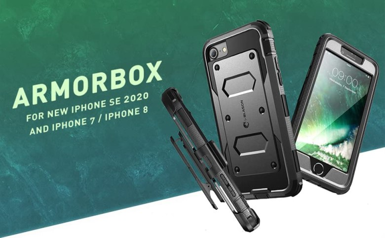 i-Blason Armorbox Case for iPhone SE 2020/ iPhone 7 / iPhone 8, built-in screen protector holster