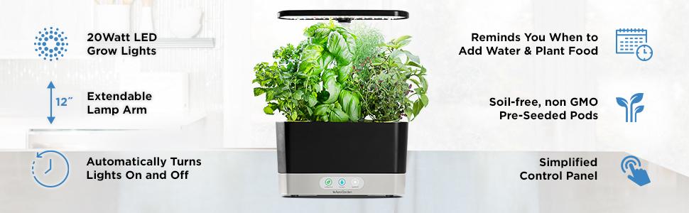 AeroGarden grow herbs inside