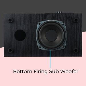 Down firing woofer