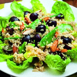 Quinoa, Grape, and Almond Salad