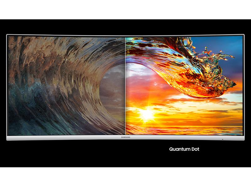 Conventional Monitor display vs Quantum Dot Display of Samsung 4K UHD Monitor