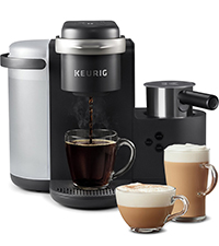 k-cafe coffee maker, cappuccino, latte, keurig coffee, brewer, coffee machine, k cup pods, kcups