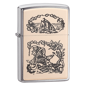 zippo, windproof lighters, ships, eagles, nautical lighters, boats, chrome lighters, chrome