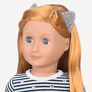 menina americana barbie boneca acessório nossa geração pente de cabelo arco vestido saia sapatos fita bonito jogar