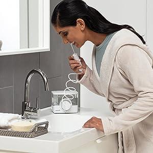 Waterpik iyon profesyonel su pensesinde kablosuz taşınabilir şarj edilebilir su çekme dişler için